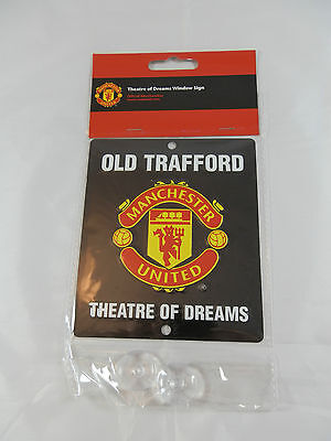 Manchester United FC Car Window Sign / Wall Sign - Official Merchandise