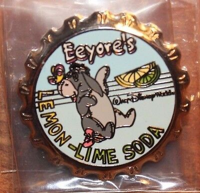 Disney WDW Soda Pop Cap Series Eeyore Lemon Lime Pin Winnie The Pooh