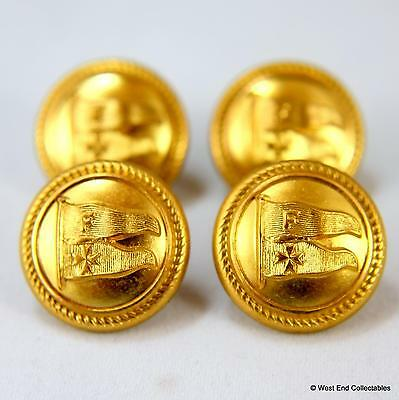 4 x 20mm Furness Houlder Shipping Line Badge Buttons - Nautical Merchant Navy