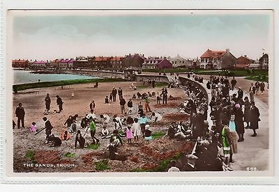THE SANDS, TROON: Ayrshire postcard (C1945).