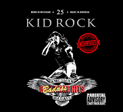 Kid Rock  Badass Hits [Greatest Hits] 2 CD+ DVD [Explicit] 38 tracks from 25 yrs