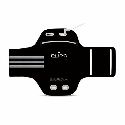 "Puro UNIBAND Universal Armband for Smartphone/Devices up to 5.0"" In Color Black."