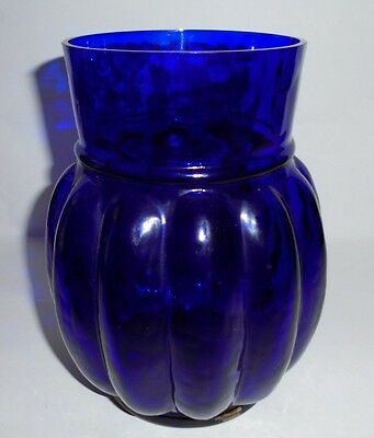 "Pilgrim Glass 7-3/8"" Cobalt Bulbus Vase"