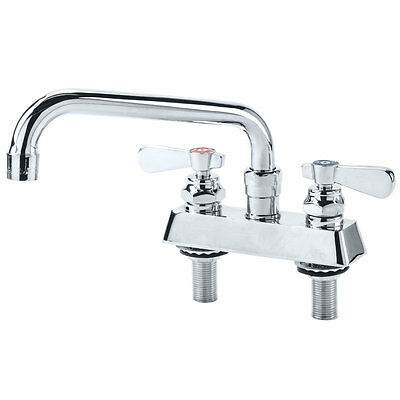 """Regency Low Lead Deck Mount Faucet with 4"""" Centers and 8"""" Swing Spout"""