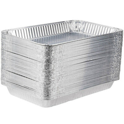 "(50-Pack) Full Size 2 3/16"" Deep Disposable Aluminum Foil Steam Table Pans"