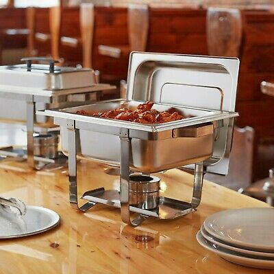 Choice Economy 4 Qt. Half Size Stainless Steel Catering Chafing Dish