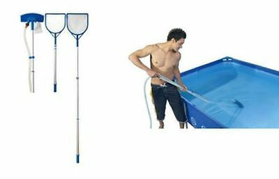 Jilong Pool Cleaning Kit Maintenance Aluminium Stick Scoop And Floor Vacuum Set