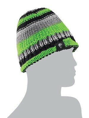 Arctic Cat Adult Team Arctic Beanie Hat - Gray / Lime Green 5263-063