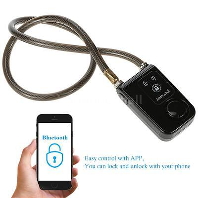 Phone APP Control Smart Lock with Bluetooth Chain Anti Theft Alarm for Bike N2V7