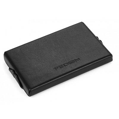 NEW Fedon Horizontal Black Business Card Holder