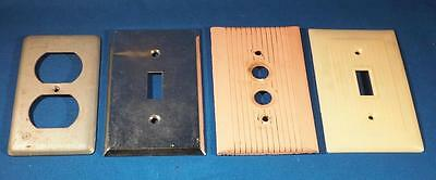 Vintage Lot of 4 Switchplate Cover Bakelite etc.