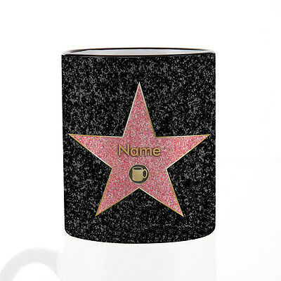 Kaffeebecher mit Namen - Motiv: Walk Of Fame