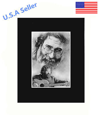 Jerry Garcia 8x10 matted Art Print Poster Decor picture Gift Photograph Display