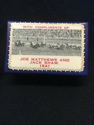 Vintage Rare 1941 War Fund And Sporting Match Box Cover