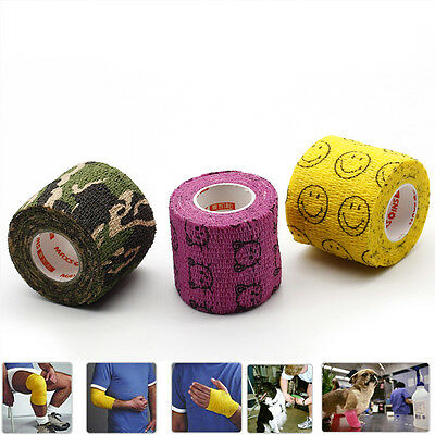 Elastic First Aid Bandage Self-Adhesive Gym Sports Tape Strapping Band Pretty