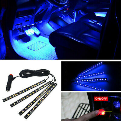 Blue 12 LED Chip Interior Glow Atmosphere Light Mood Neon Lamp For Car Pickup
