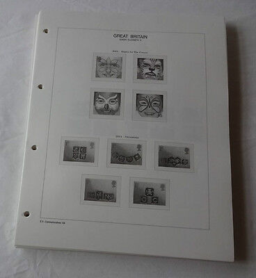 Royal Mail Great Britain Illustrated & Hingeless Ring Album Leaves,various Years