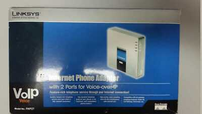 FACTORY UNLOCKED LINKSYS PAP2 NA VOIP PHONE Adapter SIP Gateway 2 Port USA