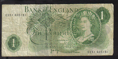 Gb 1970/1980  £1 Jo Page Ex51   Banknote