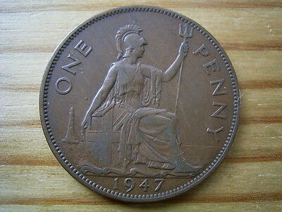 1947   george v1   penny  collectable