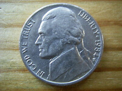 1984p  usa 5 cent  nickel coin collectable