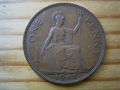 1945   george v1   penny  collectable