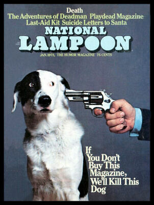 National Lampoon FRIDGE MAGNET 6x8 We will Kill the Dog Magnetic Canvas Print