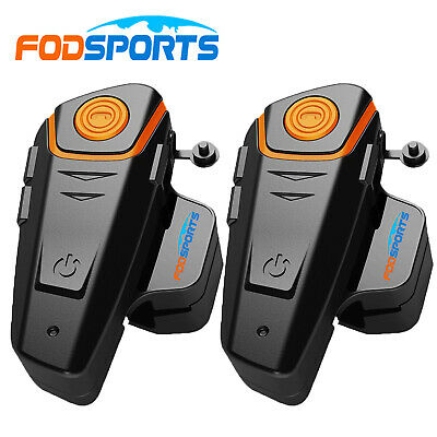 2× BT interphone bluetooth casco de motocicleta intercomunicador 500m