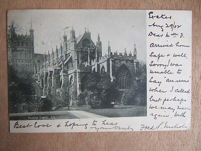 Cpa Devon (Royaume Uni) Exeter Cathedral. Plymouth. Stamped 1902