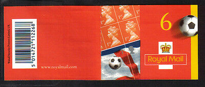 2002 pm6 booklet (football world cup ) 4x1st 2xlrg 1st  mnh