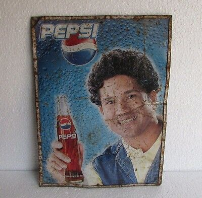 Vintage Double sided Sign Pepsi  Ad. Tin Sign Board Collectible