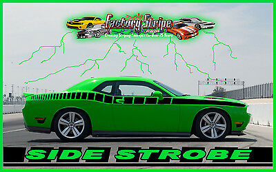 2014 Dodge Challenger Side Strobe Decal Graphic Decal Factory Stripe