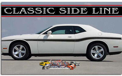 Dodge Challenger Classic Sideline Factory Stripe Decal Graphic 2008 To 2014