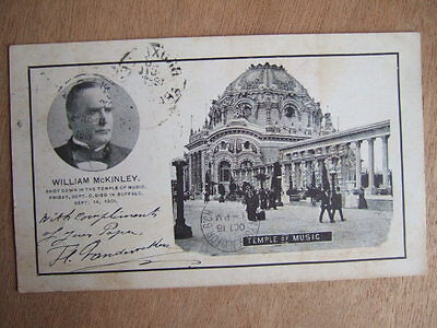Cpa New York (Usa) Buffalo President W. Mckinley Shot Down The Temple Of Music