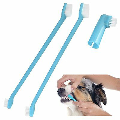 Dog/Puppy Dental Care Set 2 Brushes in Blue and Pink!