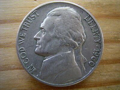 1960d  usa 5 cent  nickel coin collectable