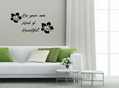 Be your own kind of Beautiful Removable Vinyl Wall Sticker Decor Art Quote Decal