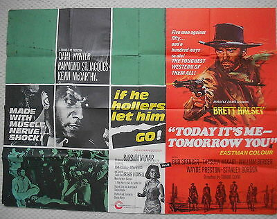 If He Hollers Let Him Go/Today its Me Tomorrow You Double Bill Poster, '68