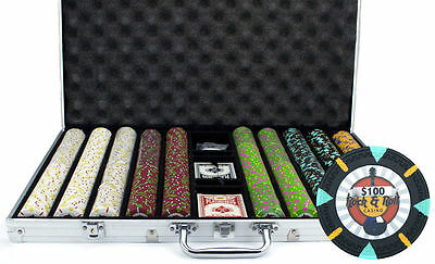 NEW 1000 Rock & Roll 13.5 Gram Clay Poker Chips Aluminum Case Set Pick Your Chip