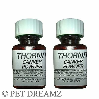 2 x 20g THORNIT EAR POWDER- RELIEF FROM EAR MITES- DOGS, CATS & RABBITS