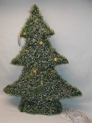 Artificial Light Up Crystal Covered Christmas Tree Figurine 19 Inch tall