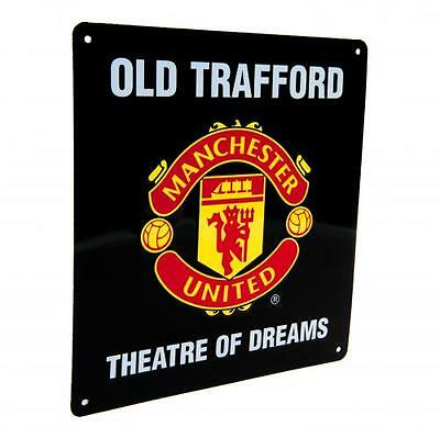 Manchester United FC Metal ''Theatre of Dreams'' Sign - Official Merchandise