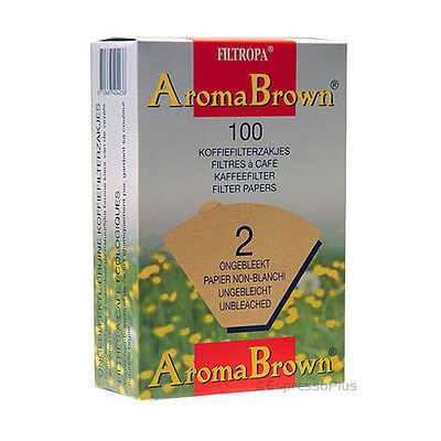 Filtropa AuromaBrown Unbleached Coffee Filters #2 - 100 Count