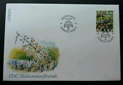 Aland Feasts - Midsummer Celebrations 1998 (stamp FDC) *clean