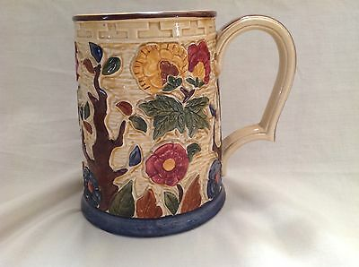 H J WOOD INDIAN TREE 1930s ART DECO INDIAN TREE TANKARD HAND PAINTED 706  SIGNED