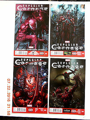 Marvel Comics Superior Carnage #1-4 Marvel Now Comic Book Set! New!