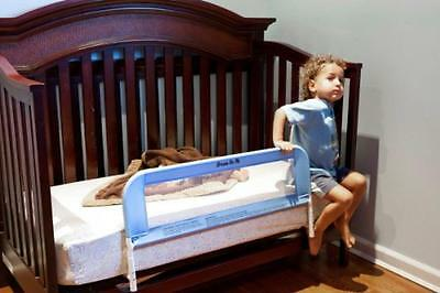 Dream On Me Mesh Security Crib Rail, Blue, New, Free Shipping