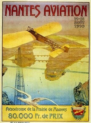 Affiche Meeting Aviation de Nantes 1910