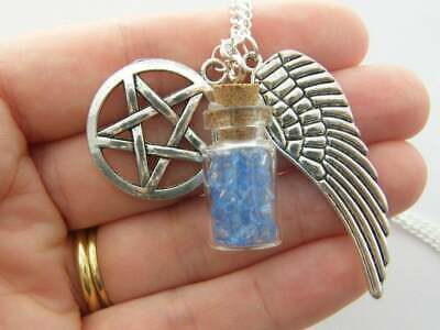 1 Salt wing and pentagram charms NB1