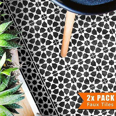 AMIRA Moroccan Tile - Furniture Wall Floor Stencil for Painting